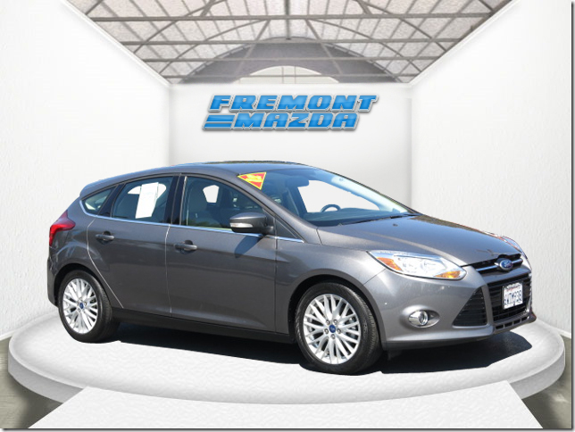 2012 FORD FOCUS SEL HATCHBACK gray 4-cyl 20 liter automatic leather  power windows  tilt whe