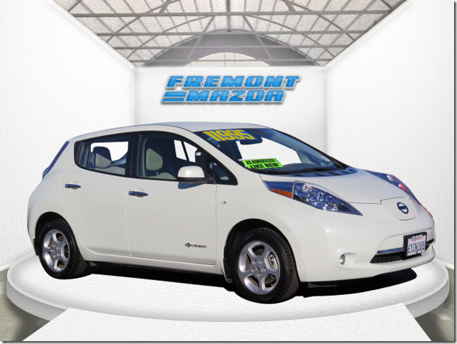 2012 NISSAN LEAF HATCHBACK SL white 80kw ac synchronous electric motor automatic power windows