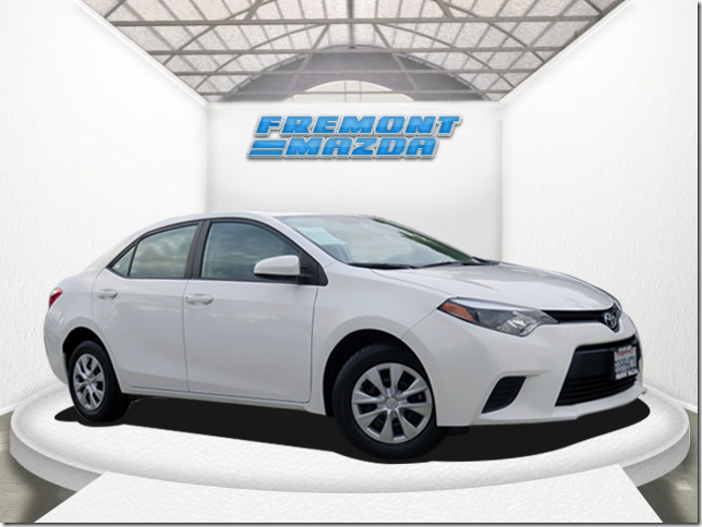 2014 TOYOTA COROLLA SEDAN white 18l i4 dohc dual vvt-i automatic what a nice car hurry before