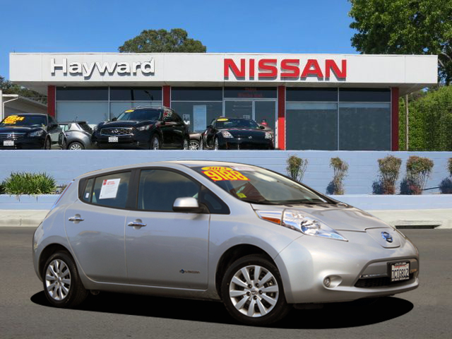 2013 NISSAN LEAF S HATCHBACK silver ac electric motor automatic certified    fwd  siriusxm s