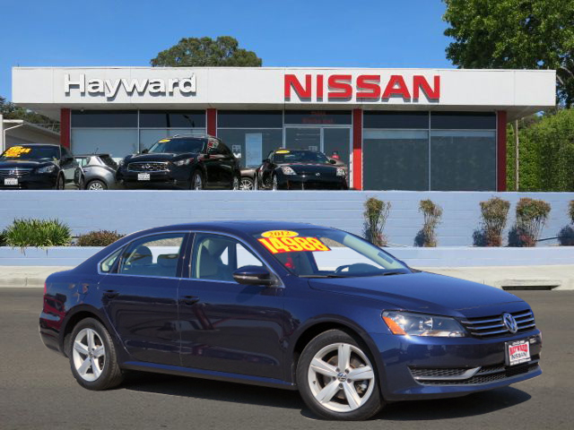 2012 VOLKSWAGEN PASSAT 25L SE SEDAN blue 5-cyl pzev 25 liter automatic german engineering one