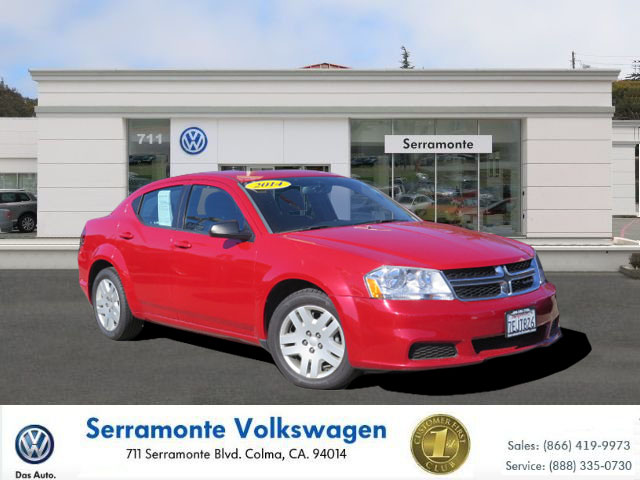 2014 DODGE AVENGER SE SEDAN red v6 flex fuel 36 liter automatic power windows  traction contr