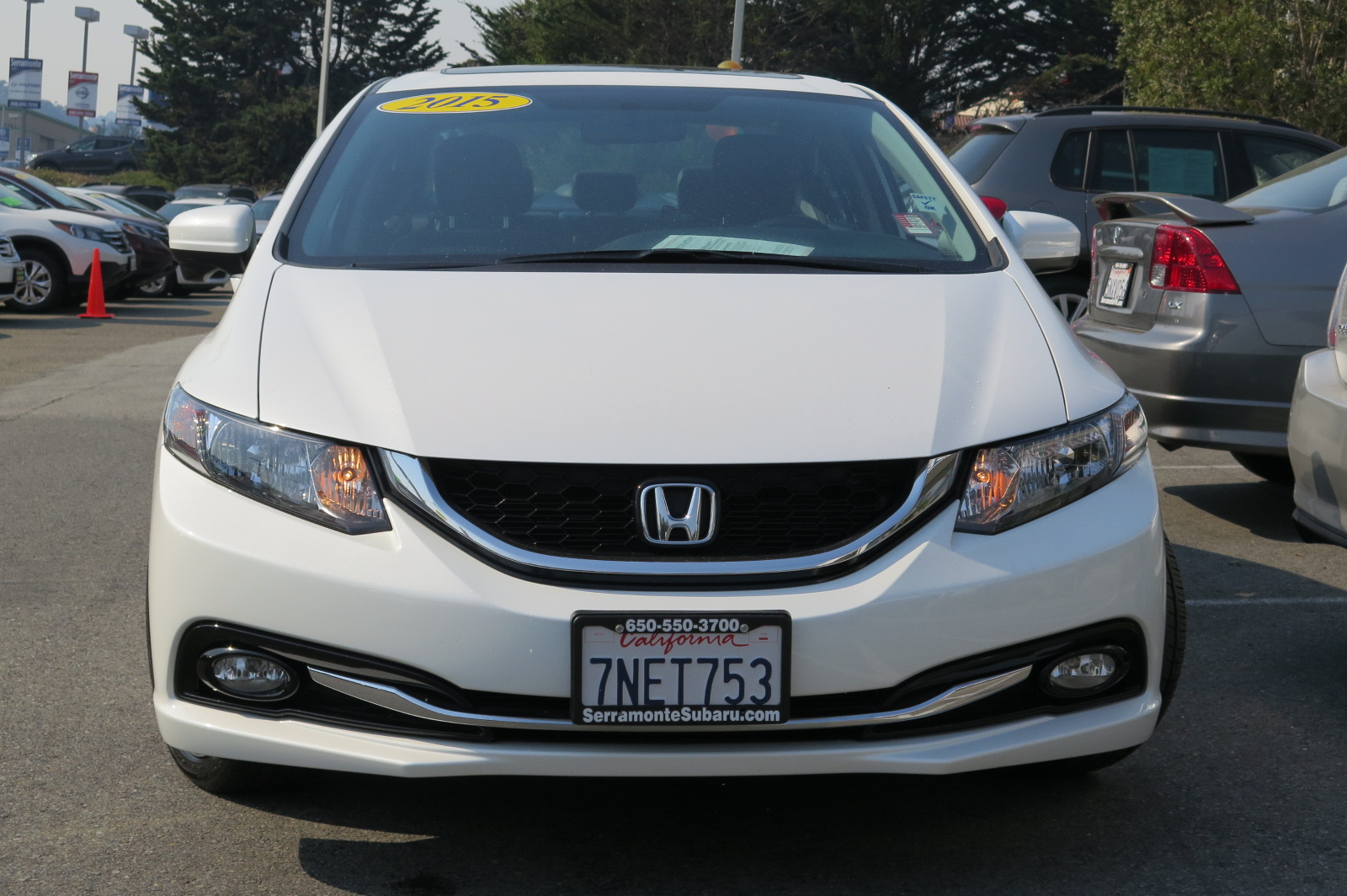 2015 HONDA CIVIC EX-L SEDAN white 4-cyl pzev ivtec 18l automatic leather  power windows  pow