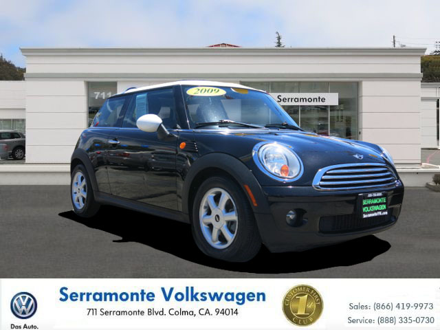 2009 MINI COOPER HATCHBACK black 16l i4 dohc 16v automatic power moon roof  leather  power w