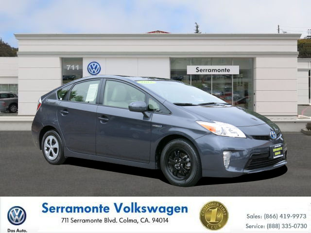 2012 TOYOTA PRIUS PRIUS gray 18l hybrid automatic fwd  folding side mirrors  leather  power