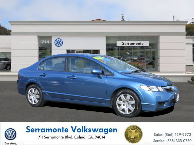 2009 HONDA CIVIC LX SEDAN blue 4-cyl vtec 18 liter automatic must see  one owner  runs great