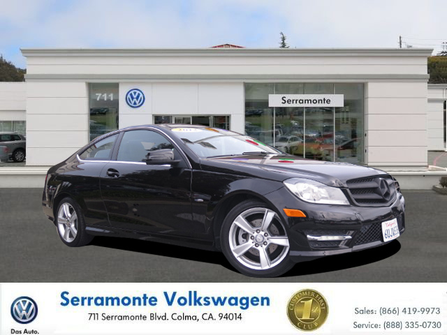 2012 MERCEDES-BENZ C-CLASS C250 COUPE black 4-cyl turbo 18 liter automatic siriusxm satellite