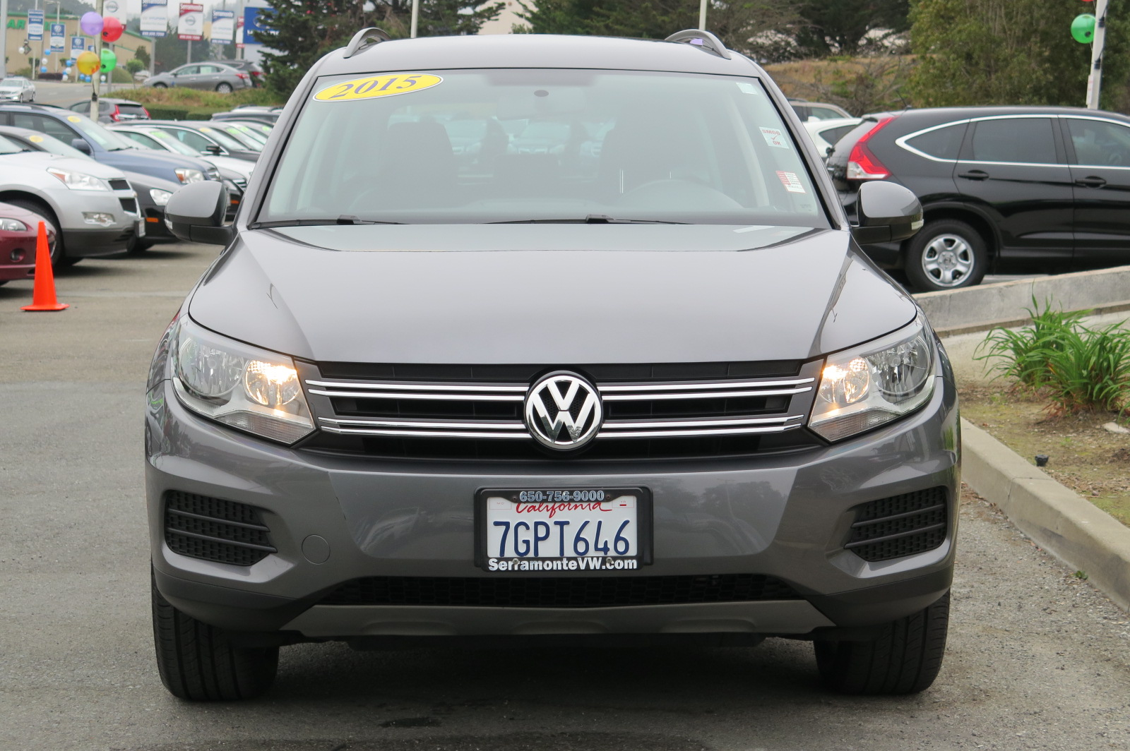 2015 VOLKSWAGEN TIGUAN 20T SE 4MOTION SPORT UTILITY gray 4-cyl turbo 20 liter automatic check