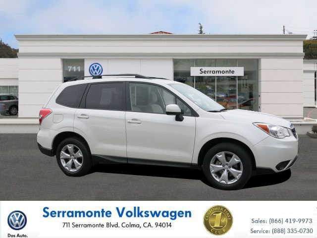 2014 SUBARU FORESTER FORESTER white 4-cyl pzev 25 liter automatic certified    power windows