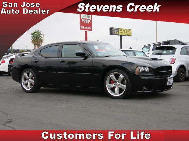 2007 DODGE CHARGER SRT8 SEDAN black v8 hemi 61 liter automatic folding side mirrors  leather