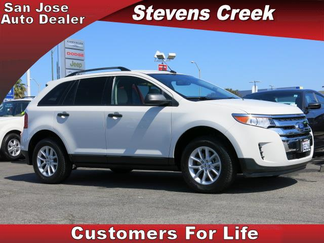2013 FORD EDGE EDGE white v6 35 liter automatic power windows  tilt wheel  amfm stereo  he
