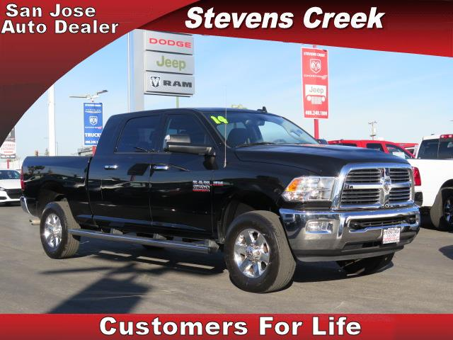 2014 DODGE RAM 2500 2500 BIG HORN black cummins 67l i6 turbodiesel automatic folding side mirr