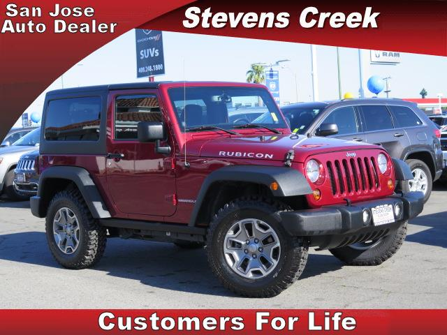 2013 JEEP WRANGLER RUBICON red 36l v6 manual folding side mirrors  power windows  tilt wheel
