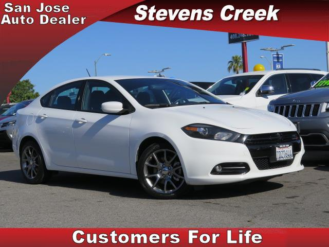 2014 DODGE DART DART white 24l  4 cylinder automatic folding side mirrors  power windows  ti