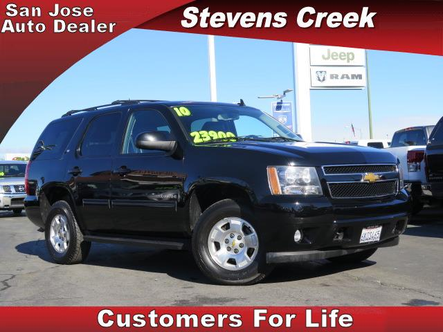2010 CHEVROLET TAHOE TAHOE black v8 flex fuel 53 liter automatic folding side mirrors  leathe