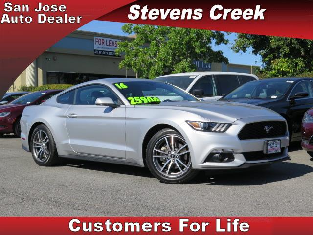 2016 FORD MUSTANG COUPE silver 23l v6 manual folding side mirrors  leather  power windows