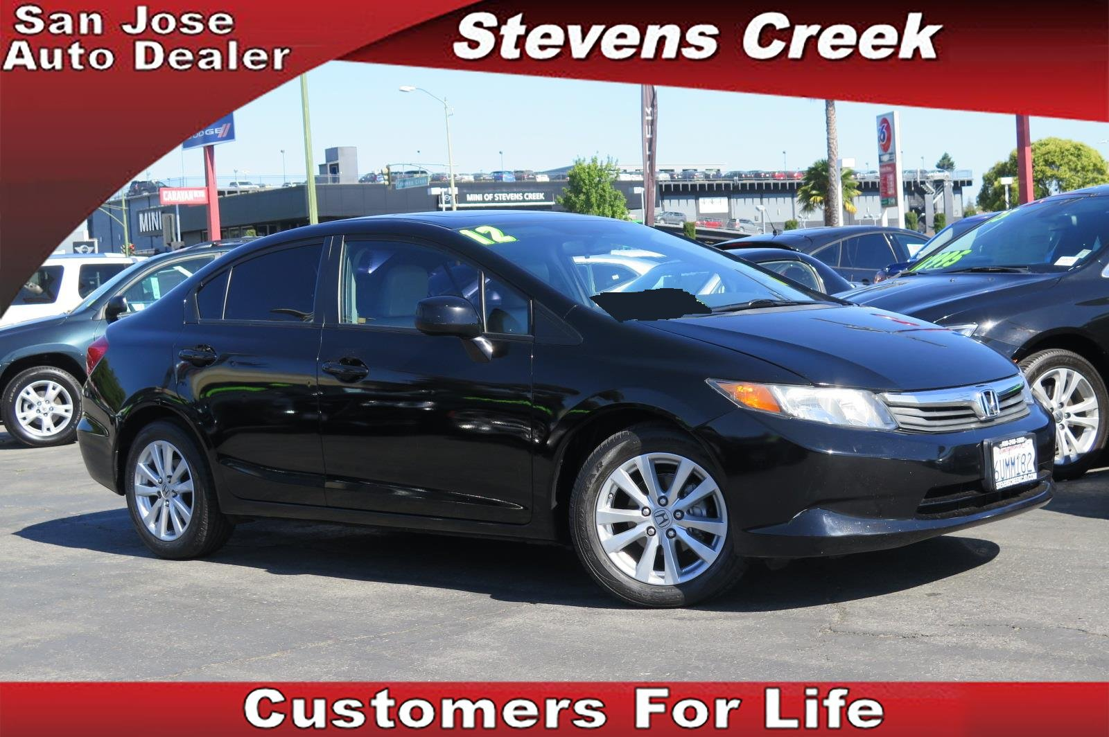 2012 HONDA CIVIC EX-L black 18l inline 4 automatic retained accessory power  power windows