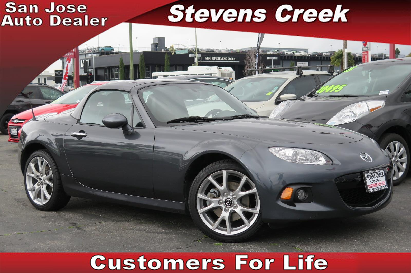 2015 MAZDA MIATA MX-5 gray 20l 4cyl automatic leather  power windows  tilt wheel  amfm st