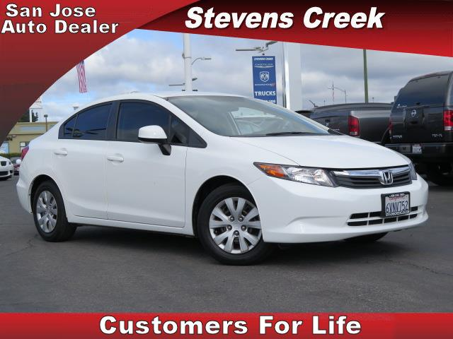 2012 HONDA CIVIC CIVIC white 18l 4 cylinder engine automatic tilt wheel  cloth seating  priv