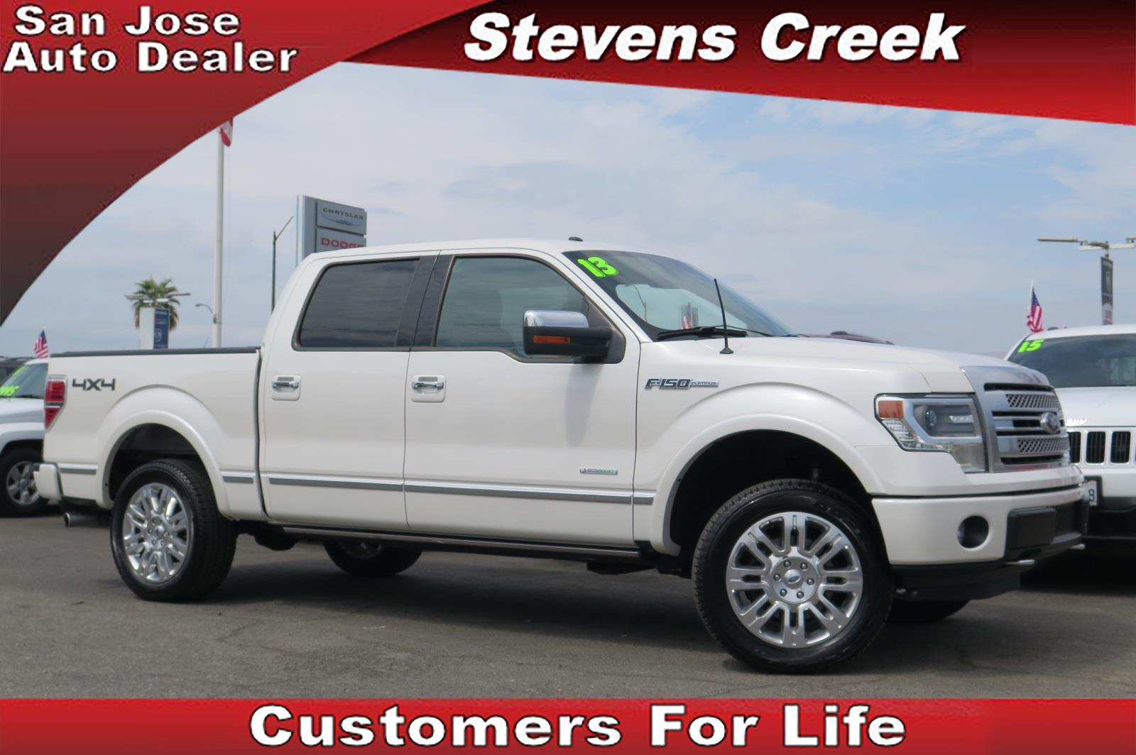 2013 FORD F-150 PLATINUM white v6 35 liter automatic retained accessory power  power windows