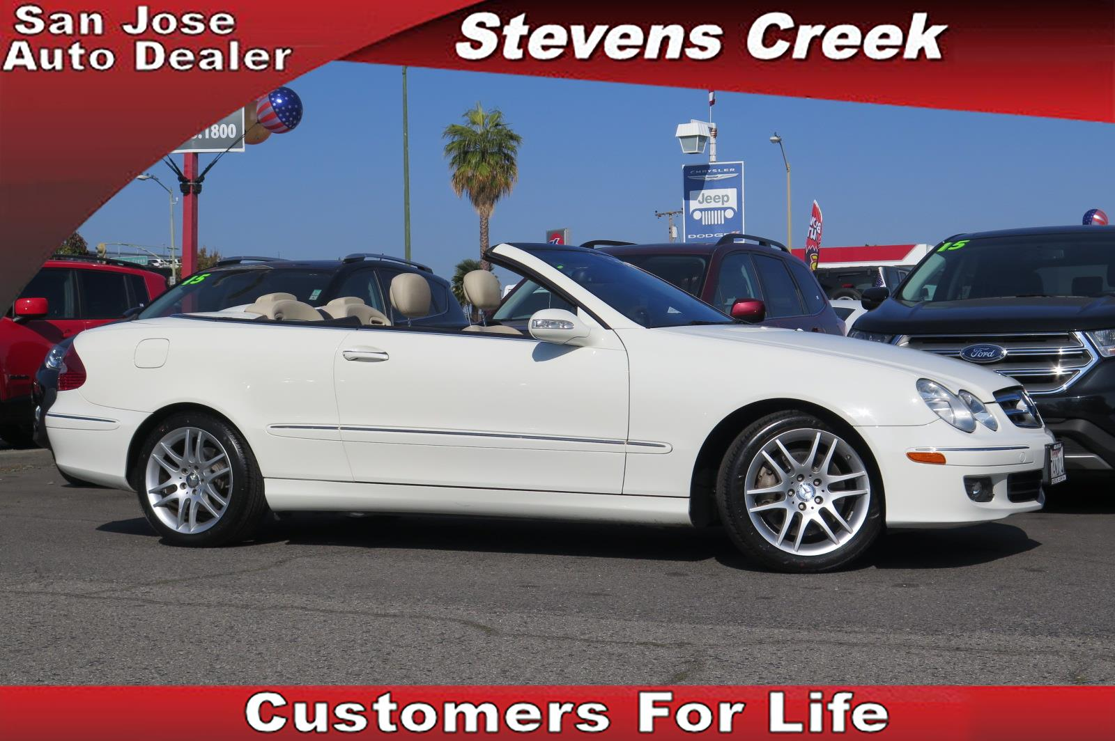 2009 MERCEDES-BENZ CLK-CLASS CLK350 white 35l v6 automatic remote convertible roof operation
