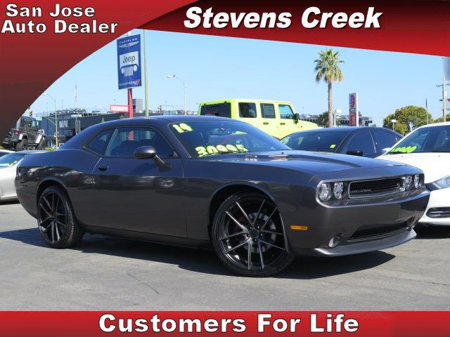 2014 DODGE CHALLENGER RT gray v8 57 liter hemi manual folding side mirrors  tilt wheel  amf