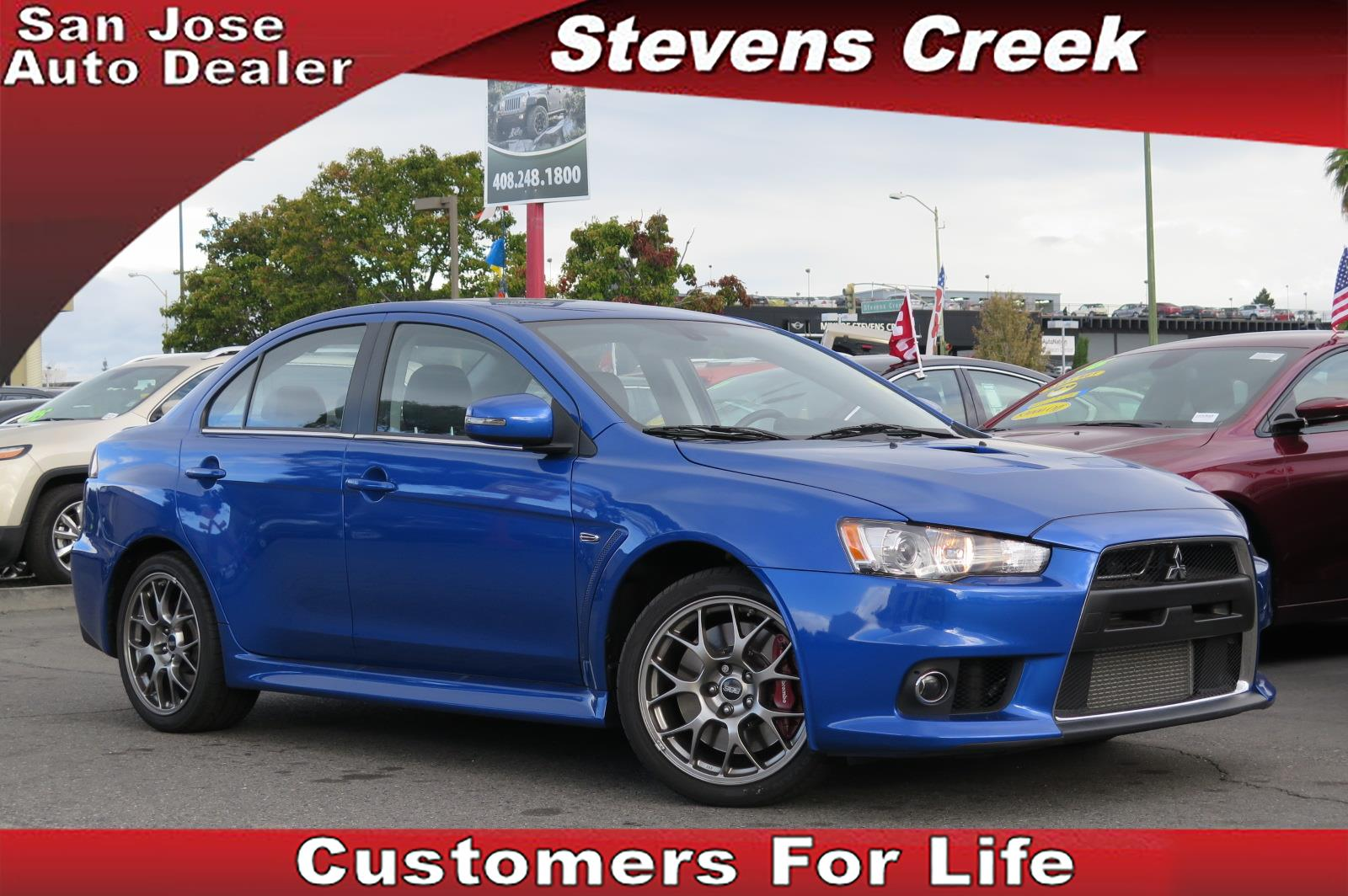 2015 MITSUBISHI LANCER EVOLUTION EVOLUTION MR blue 2l inline 4 automatic power windows  rain s