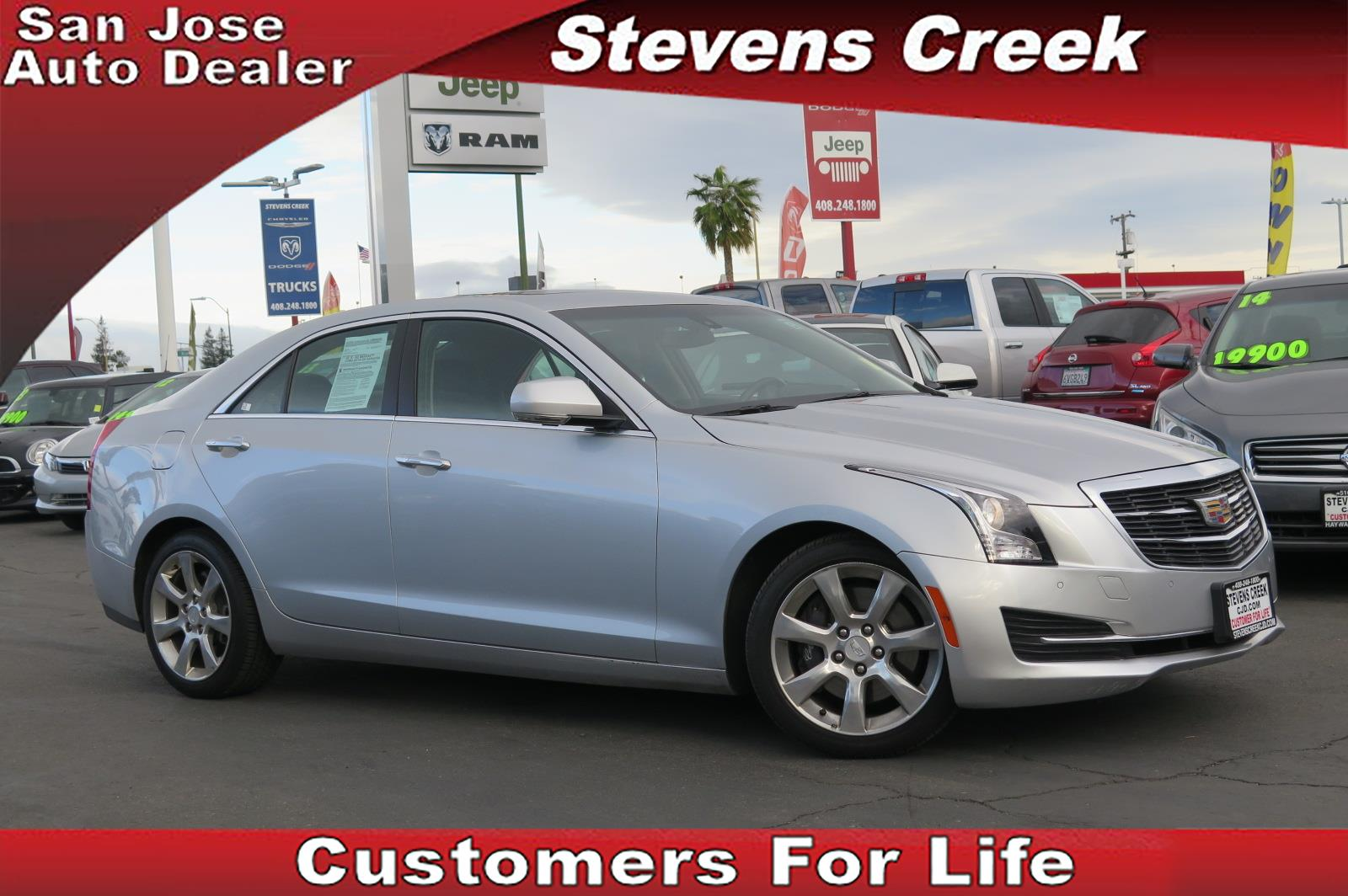 2015 CADILLAC ATS ATS silver 2l inline 4 automatic emergency service  power windows  vehicle