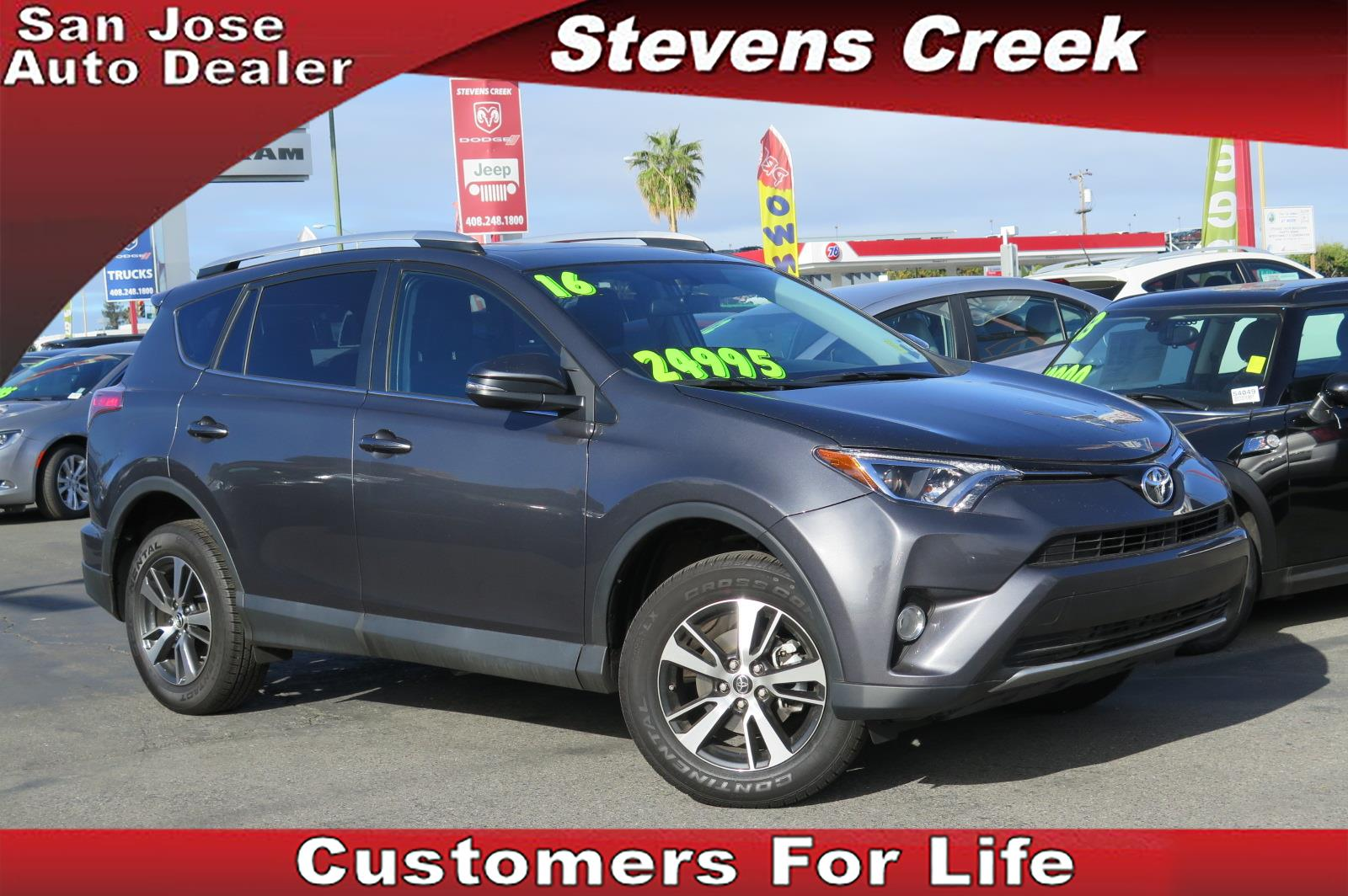 2016 TOYOTA RAV4 XLE gray 4-cyl 25 liter automatic fwd  folding side mirrors  power windows