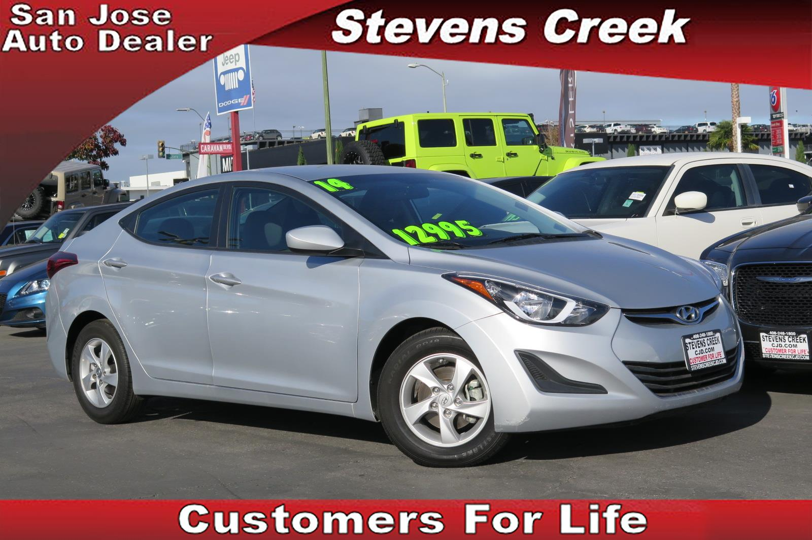 2014 HYUNDAI ELANTRA SE silver 4-cyl 18 liter automatic fwd  folding side mirrors  power win