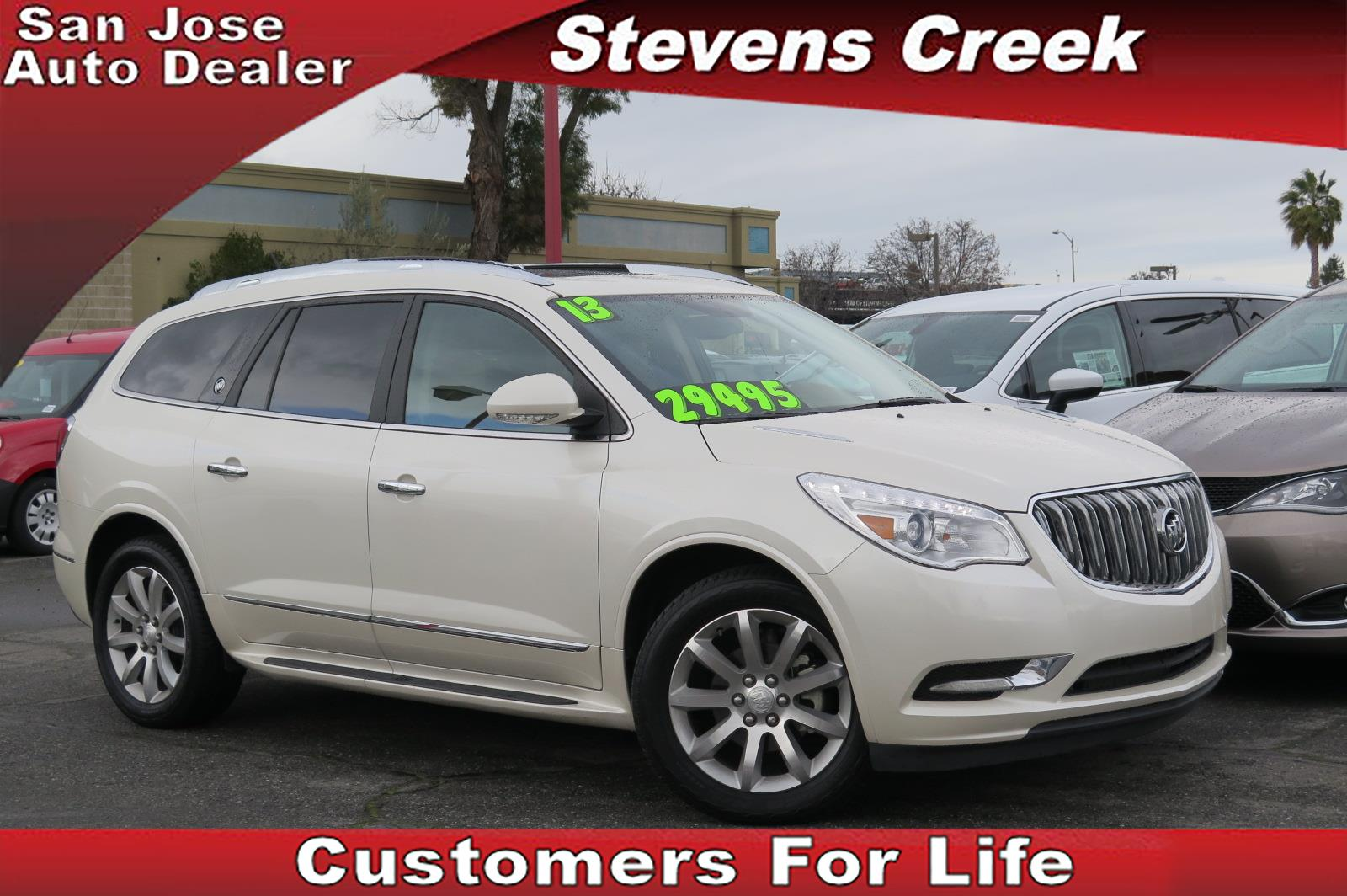 2013 BUICK ENCLAVE ENCLAVE white 36l v6 automatic great looking unit fully loaded premium spo