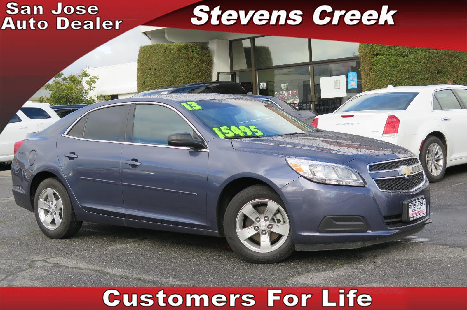 2013 CHEVROLET MALIBU MALIBU blue 25l inline 4 automatic emergency service  retained accessor