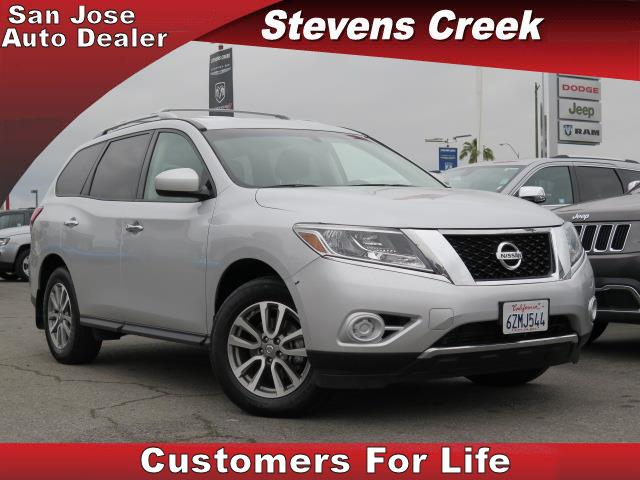 2013 NISSAN PATHFINDER SV silver 35l v6 engine automatic folding side mirrors  power windows