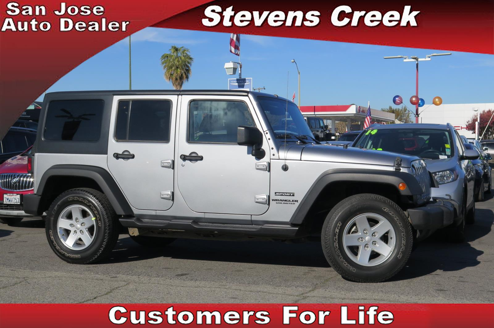 2015 JEEP WRANGLER UNLIMITED SPORT silver 36l v6 automatic previous rental 42832 miles VIN
