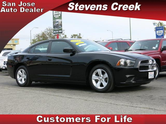 2014 DODGE CHARGER SEDAN black 36l v6 24v vvt automatic folding side mirrors  power windows