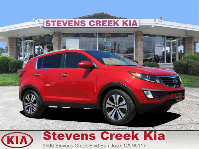2013 KIA SPORTAGE EX red 4-cyl 24 liter automatic certified    panoramic roof  leather  po