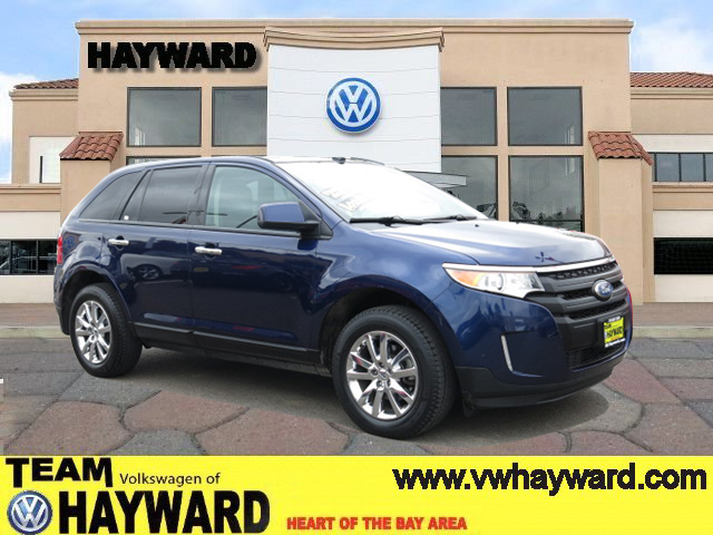 2011 FORD EDGE EDGE blue v6 35 liter automatic leather  power windows  tilt wheel  amfm st