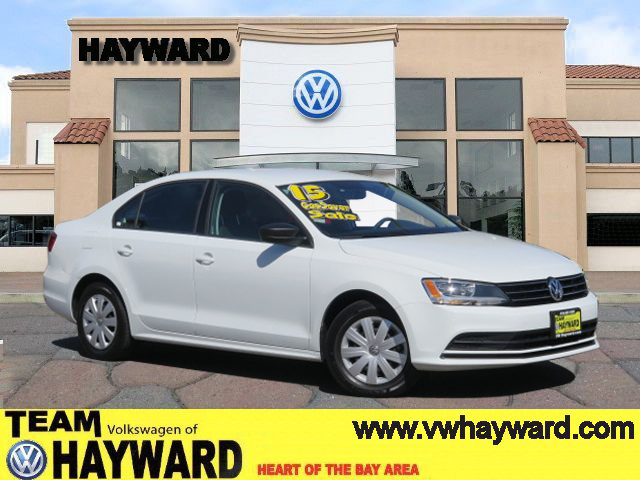 2015 VOLKSWAGEN JETTA 20L S SEDAN white 4-cyl 20 liter automatic offered for sale as a one ow