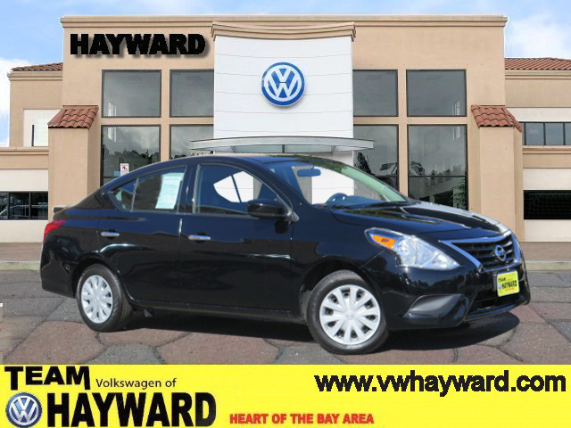 2015 NISSAN VERSA SV SEDAN black 4-cyl 16 liter automatic california car clean car fax loaded