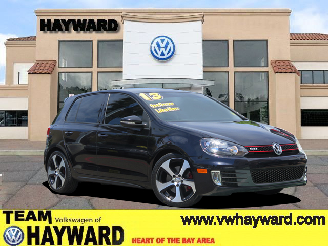 2013 VOLKSWAGEN GTI HATCHBACK SEDAN black  4-cyl turbo pzev 20 liter automatic certified